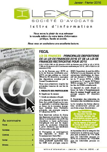 Lettre info Janv-Fev 2016