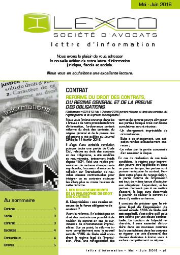 Lettre info Mai-Juin 2016