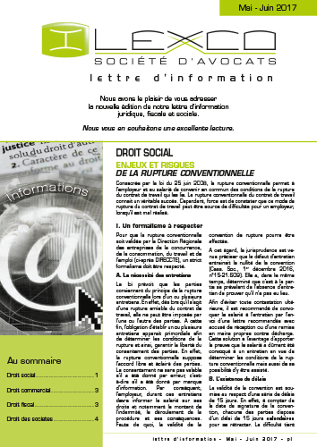 Lettre info Mai-Juin 2017