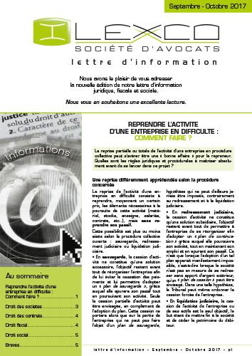 Lettre info Sept-Oct 2017